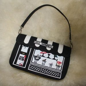 Lulu Guiness embroidered clutch purse